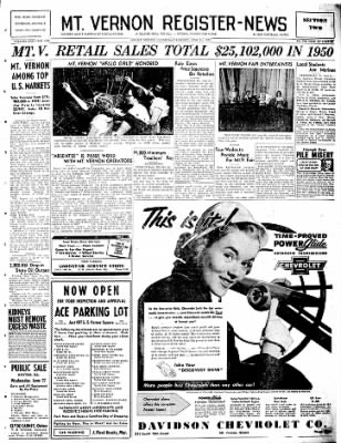 Mt. Vernon Register-News from Mt Vernon, Illinois on June 21, 1951 · Page 15