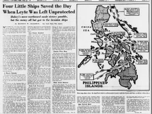 New York Times war analyst writes about the Battle of Leyte Gulf 3 weeks after the conflict