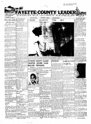 Fayette County Leader from Fayette, Iowa on August 22, 1957 · Page 1