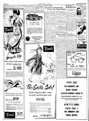 Alton Evening Telegraph from Alton, Illinois on March 21, 1952 · Page 4
