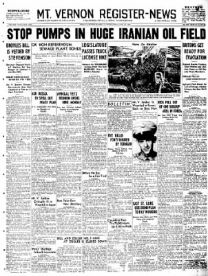Mt. Vernon Register-News from Mt Vernon, Illinois on June 27, 1951 · Page 1