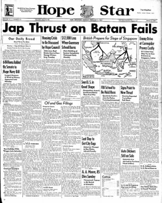 Hope Star from Hope, Arkansas on February 2, 1942 · Page 1