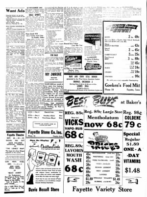 Fayette County Leader from Fayette, Iowa on November 27, 1957 · Page 4