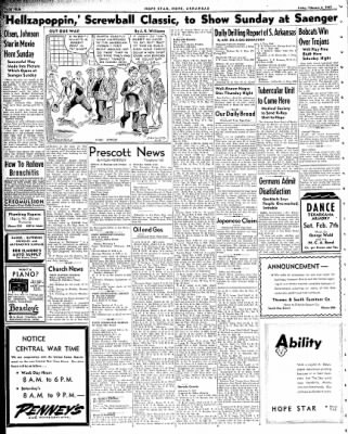 Hope Star from Hope, Arkansas on February 6, 1942 · Page 4