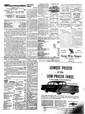 Fayette County Leader from Fayette, Iowa on January 9, 1958 · Page 2