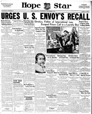 Hope Star from Hope, Arkansas on November 1, 1939 · Page 1