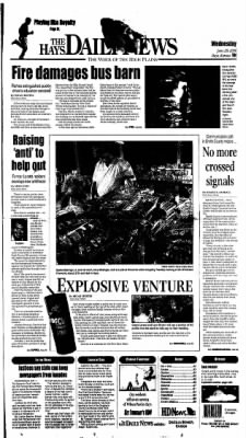 The Hays Daily News from Hays, Kansas on June 28, 2006 · Page 1