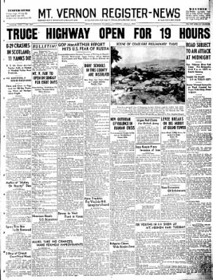 Mt. Vernon Register-News from Mt Vernon, Illinois on July 7, 1951 · Page 1