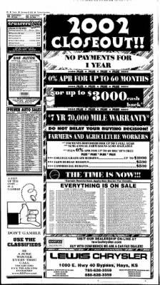 The Hays Daily News from Hays, Kansas on September 22, 2002 · Page 33