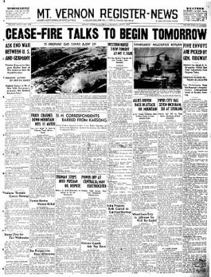 Mt. Vernon Register-News from Mt Vernon, Illinois on July 9, 1951 · Page 1