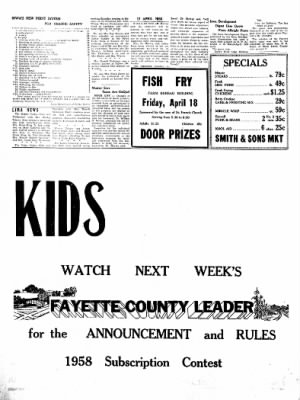 Fayette County Leader from Fayette, Iowa on April 17, 1958 · Page 3