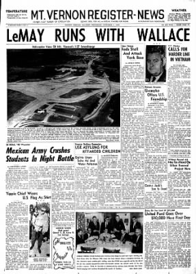 Mt. Vernon Register-News from Mt Vernon, Illinois on October 3, 1968 · Page 1