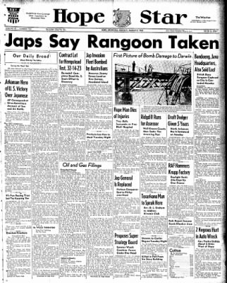 Hope Star from Hope, Arkansas on March 9, 1942 · Page 1