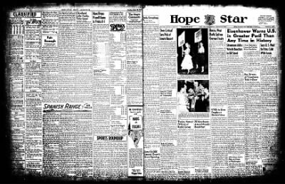 Hope Star from Hope, Arkansas on August 25, 1952 · Page 1