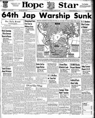 Hope Star from Hope, Arkansas on March 21, 1942 · Page 1