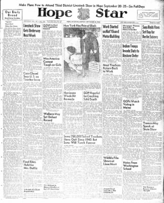 Hope Star from Hope, Arkansas on September 13, 1948 · Page 1