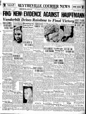 The Courier News from Blytheville, Arkansas on September 25, 1934 · Page 1