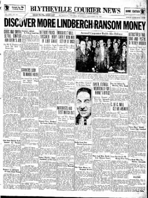 The Courier News from Blytheville, Arkansas on September 26, 1934 · Page 1