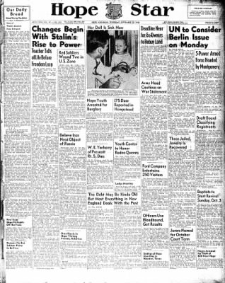 Hope Star from Hope, Arkansas on September 30, 1948 · Page 1