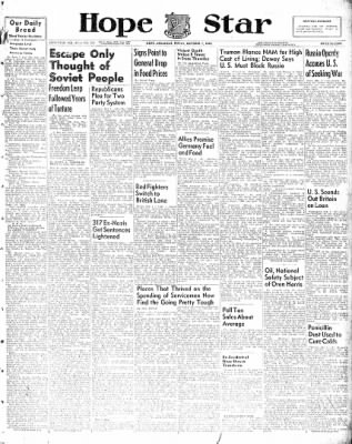Hope Star from Hope, Arkansas on October 1, 1948 · Page 1