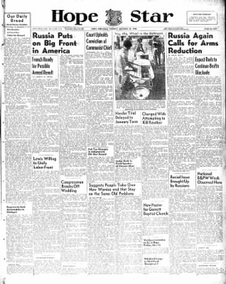 Hope Star from Hope, Arkansas on October 12, 1948 · Page 1