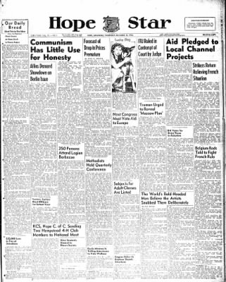 Hope Star from Hope, Arkansas on October 14, 1948 · Page 1