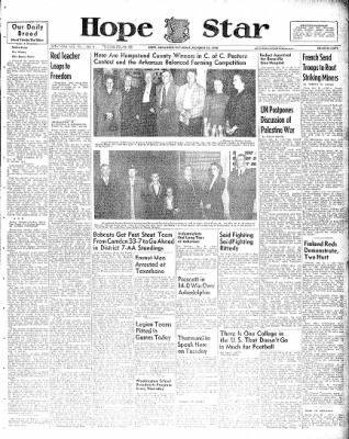 Hope Star from Hope, Arkansas on October 23, 1948 · Page 1