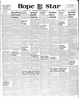 Hope Star from Hope, Arkansas on October 26, 1948 · Page 1