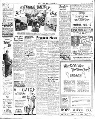 Hope Star from Hope, Arkansas on November 10, 1948 · Page 6