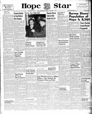 Hope Star from Hope, Arkansas on November 11, 1948 · Page 1