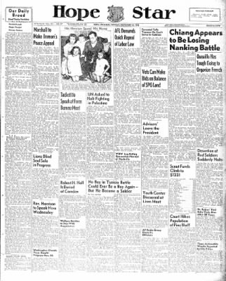 Hope Star from Hope, Arkansas on November 15, 1948 · Page 1