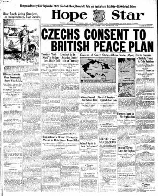 Hope Star from Hope, Arkansas on September 21, 1938 · Page 1