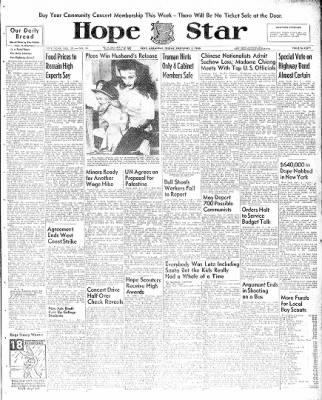 Hope Star from Hope, Arkansas on December 3, 1948 · Page 1