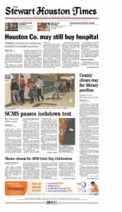 Sample Stewart-Houston Times front page