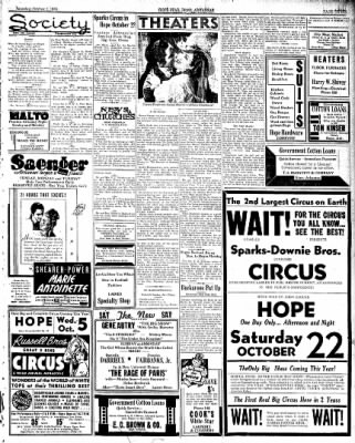 Hope Star from Hope, Arkansas on October 1, 1938 · Page 3