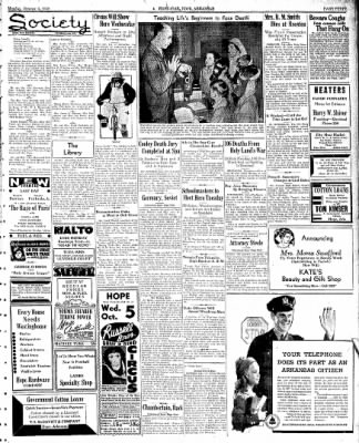 Hope Star from Hope, Arkansas on October 3, 1938 · Page 3