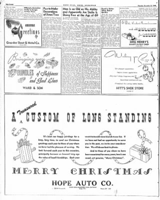 Hope Star from Hope, Arkansas on December 23, 1948 · Page 16