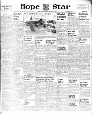 Hope Star from Hope, Arkansas on December 27, 1948 · Page 1