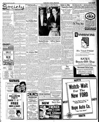 Hope Star from Hope, Arkansas on October 31, 1938 · Page 3