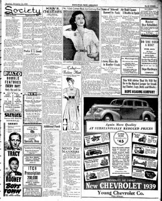 Hope Star from Hope, Arkansas on November 19, 1938 · Page 3