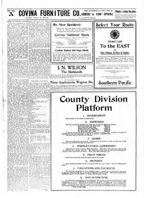 Covina Argus from Covina, California on December 7, 1907 · Page 7