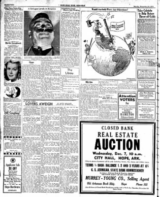 Hope Star from Hope, Arkansas on November 28, 1938 · Page 4
