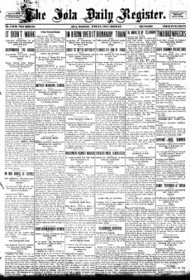 Iola Daily Register And Evening News from Iola, Kansas on June 22, 1903 · Page 1