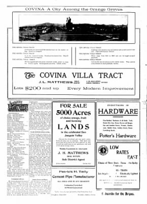 Covina Argus from Covina, California on December 14, 1907 · Page 2