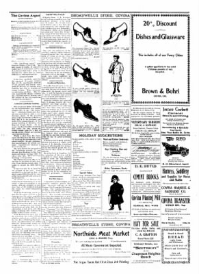 Covina Argus from Covina, California on December 14, 1907 · Page 4