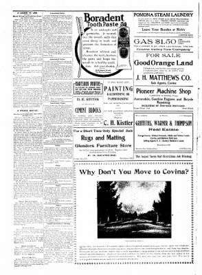 Covina Argus from Covina, California on December 14, 1907 · Page 6