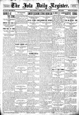 Iola Daily Register And Evening News from Iola, Kansas on June 23, 1903 · Page 1