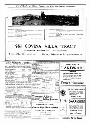Covina Argus from Covina, California on December 21, 1907 · Page 2