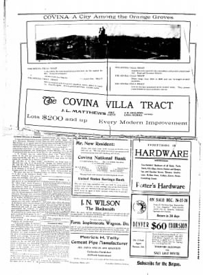 Covina Argus from Covina, California on December 28, 1907 · Page 2