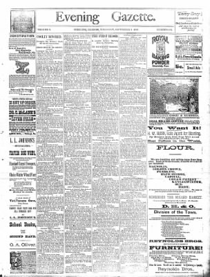 Sterling Daily Gazette from Sterling, Illinois on September 5, 1889 · Page 1